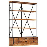 vidaXL Boekenkast 4-laags met 6 lades 122x36x181 cm massief mangohout