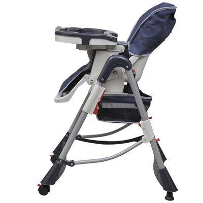 vidaXL Kinderstoel Deluxe in hoogte verstelbaar donkerblauw