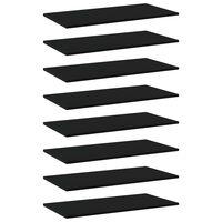 vidaXL Wandschappen 8 st 80x40x1,5 cm spaanplaat zwart