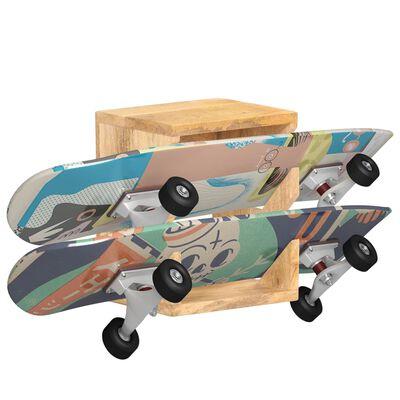 vidaXL Wandskateboardhouder 25x20x30 cm massief mangohout,