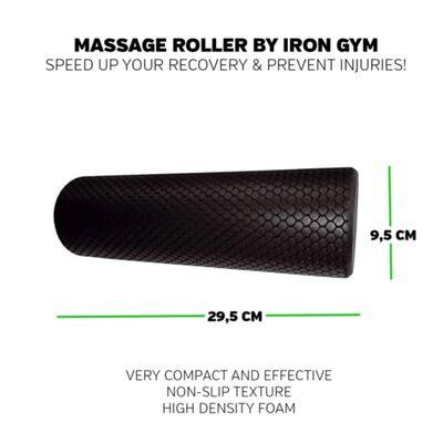 Iron Gym Massageroller Essential zwart IRG051
