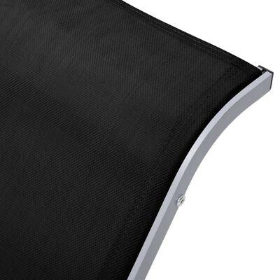 vidaXL Ligbedden 2 st met tafel aluminium zwart
