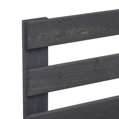 vidaXL Bedframe pallet massief grenenhout grijs 200x200 cm