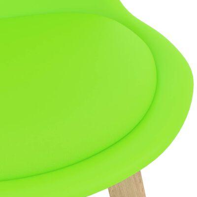 vidaXL Barkrukken 4 st PP en massief beukenhout groen
