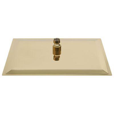vidaXL Regendouchekop vierkant 40x40 cm roestvrij staal goudkleurig