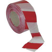 1x Afzetlinten/markeerlinten rood/wit gestreept 500 meter kunststof -