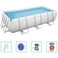 Bestway Zwembadset Power Steel rechthoekig 404x201x100 cm