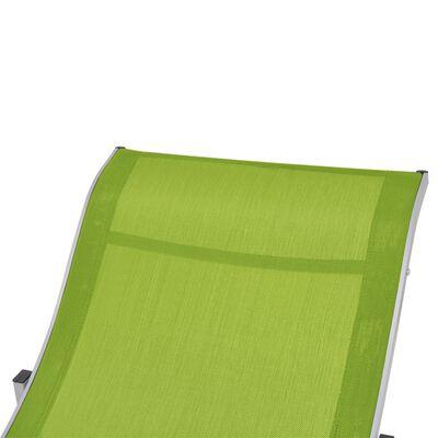 vidaXL Ligbedden inklapbaar 2 st textileen groen