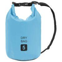 vidaXL Drybag 5 L PVC blauw