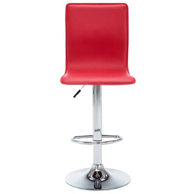 vidaXL Barstoelen 2 st kunstleer rood