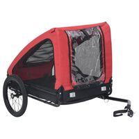 vidaXL Huisdierenfietskar rood en zwart