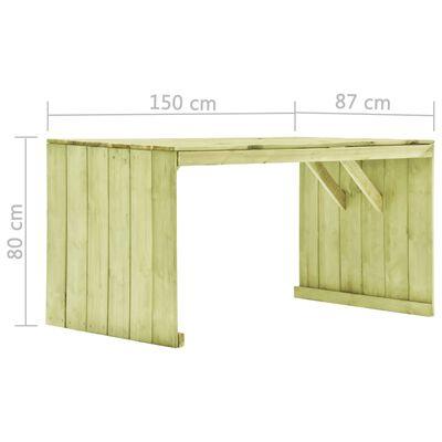 vidaXL Tuintafel 150x87x80 cm geïmpregneerd grenenhout