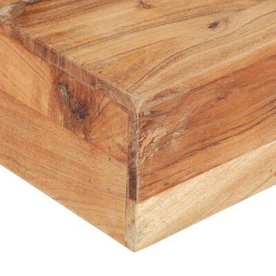 vidaXL Salontafel 80x80x28 cm massief acaciahout