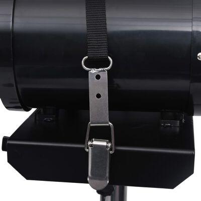 vidaXL Standaard voor huisdierenföhn dubbele motor verstelbaar zwart