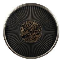 Gifts Amsterdam Wandklok Radar Stefan 80 cm zwart en goudkleurig