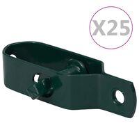 vidaXL Draadspanners 25 st 90 mm staal groen