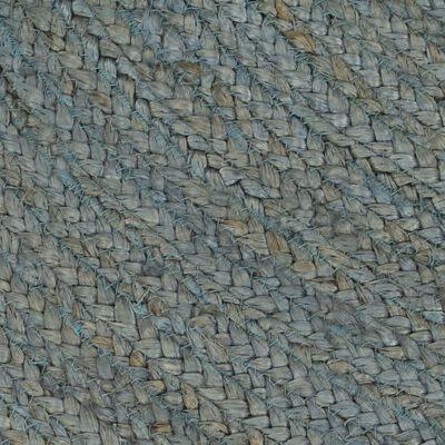 vidaXL Vloerkleed handgemaakt rond 120 cm jute olijfgroen
