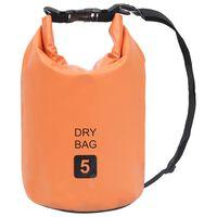 vidaXL Drybag 5 L PVC oranje