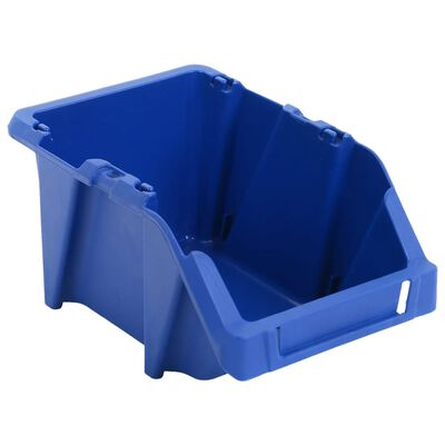vidaXL Opbergbakken stapelbaar 125x195x90 mm blauw 150 st