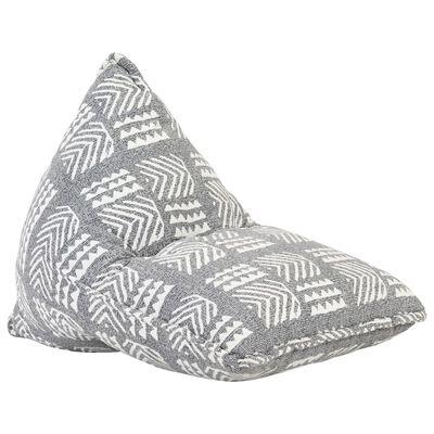 vidaXL Zitzak stof patchwork grijs