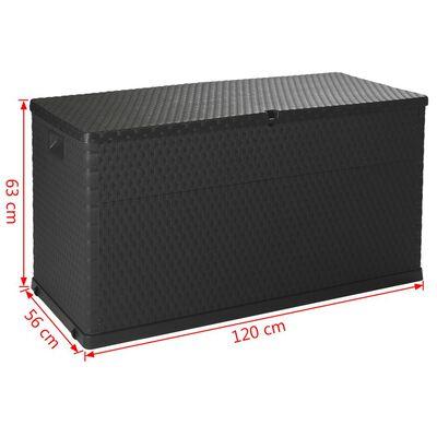 vidaXL Tuinbox 120x56x63 cm antraciet