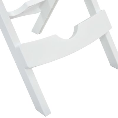 vidaXL Tuintafel inklapbaar 45,5x38,5x50 cm wit