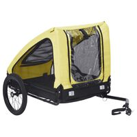 vidaXL Huisdierenfietskar geel en zwart