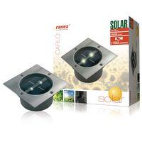 Ranex Spotlight op zonne-energie vierkant 0,12 W zilver 5000.198