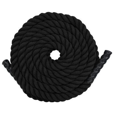 vidaXL Battle rope 9 m polyester zwart
