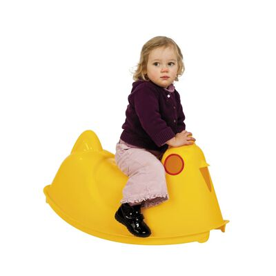 Paradiso Toys rolwip kip geel 78 cm,