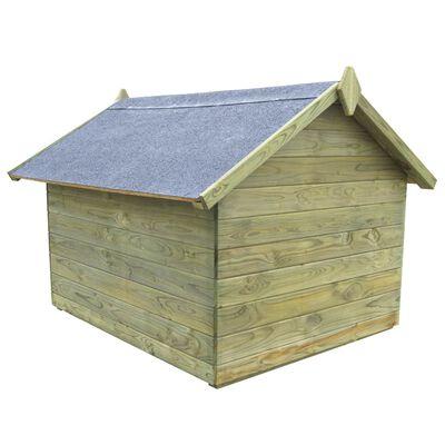 vidaXL Hondenhok met opklapbaar dak geïmpregneerd grenenhout