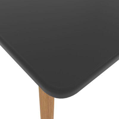vidaXL 5-delige Eethoek zwart