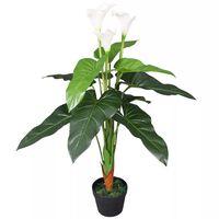 vidaXL Kunst calla lelie plant met pot 85 cm wit