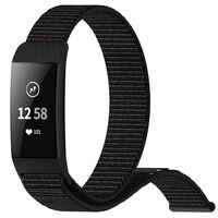 Fitbit Charge 3/4 Armband Nylon Zwart