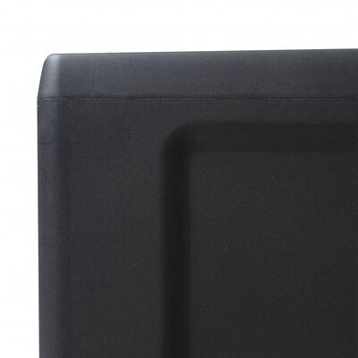 vidaXL Tuinkast met 4 schappen zwart
