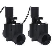 vidaXL Irrigatieventielen 2 st solenoïde AC 24 V