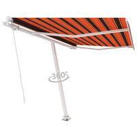 vidaXL Luifel vrijstaand handmatig uittrekbaar 300x250 cm oranje bruin