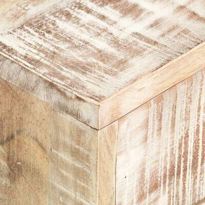 vidaXL Salontafel 117x50x30 cm massief acaciahout wit