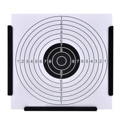 vidaXL Schietkast trechtervormig met 100 papieren targets 14 cm ,