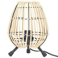 vidaXL Tafellamp 60 W E27 20x27 cm wilgen