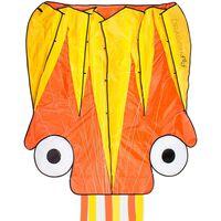 Dragon Fly Vlieger Octopus 124x127 cm oranje en geel