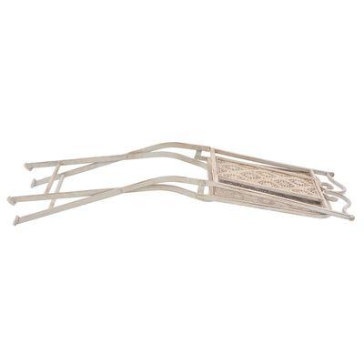 vidaXL 3-delige Bistroset staal wit