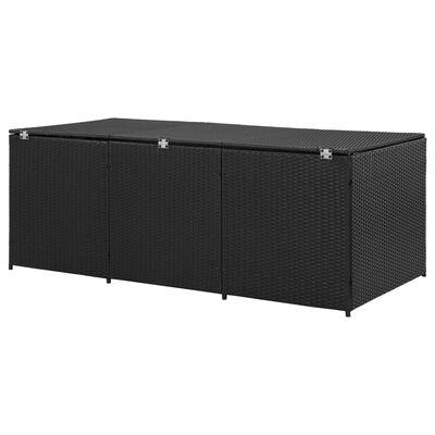 vidaXL Tuinbox 180x90x75 cm poly rattan zwart