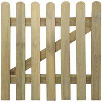 vidaXL Poort 100x100 cm hout