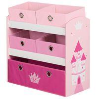 roba Speelgoedopberger Crown 63,5x30x60 cm MDF roze