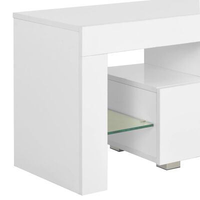 vidaXL Tv-meubel met LED-verlichting 130x35x45 cm hoogglans wit