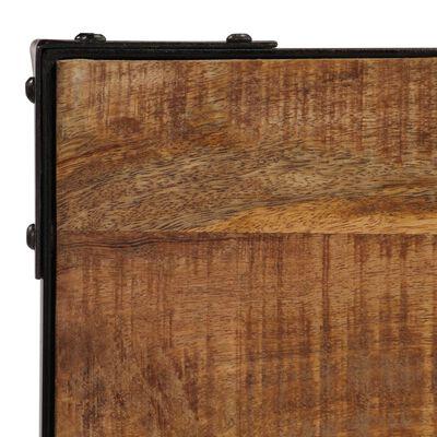 vidaXL Eettafel 120 cm massief ruw mangohout en staal