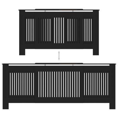 vidaXL Radiatorombouw 205 cm MDF zwart