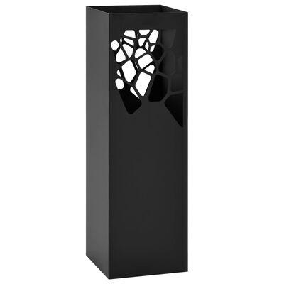 vidaXL Parapluhouder stenen staal zwart
