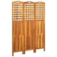 vidaXL Kamerscherm met 3 panelen 121x2x170 cm massief acaciahout